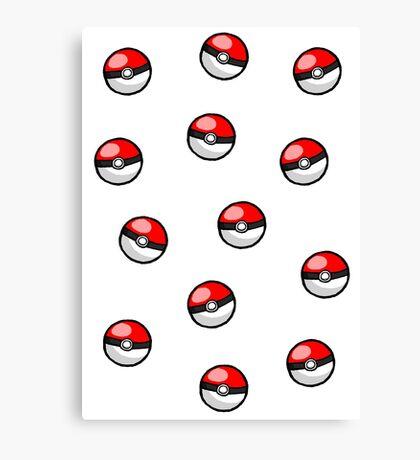 Pokemon balls ~ Canvas Print