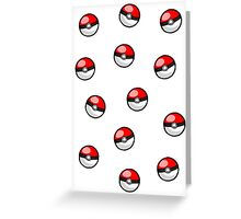 Pokemon balls ~ Greeting Card