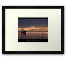 Loudias River's Oufall Framed Print
