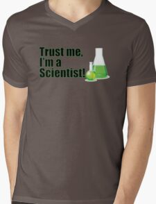 Trust Me I'm a Scientist Funny Lab Technician Bottles Quote Mens V-Neck T-Shirt
