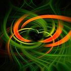 Twirl ~ orange green by heidiannemorris