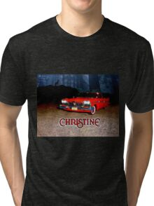 Christine - from the mind of horror writer stephen King Tri-blend T-Shirt