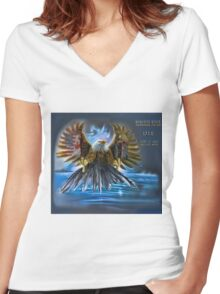 Memories Never Die Tribute 9/11 Women's Fitted V-Neck T-Shirt