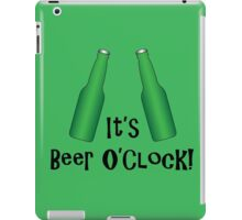 It's Beer O'Clock Party Time Green Bottles iPad Case/Skin