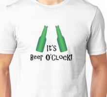 It's Beer O'Clock Party Time Green Bottles Unisex T-Shirt