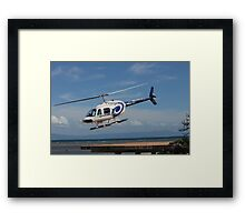 VH-HZO b206 gbr Helicopters Framed Print
