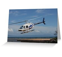VH-HZO b206 gbr Helicopters Greeting Card