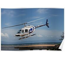 VH-HZO b206 gbr Helicopters Poster