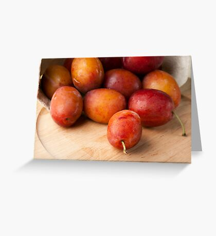Fresh Plums Greeting Card