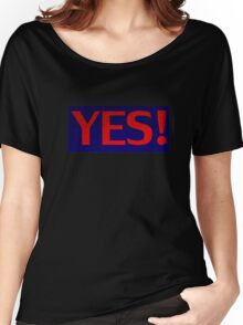 Excited Yes - Confirm Affirmative Sticker T-Shirt Women's Relaxed Fit T-Shirt