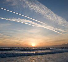 Santa Monica Sunset by William Fehr