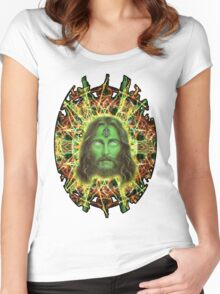 Psychedelic Jesus Women's Fitted Scoop T-Shirt