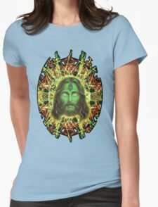 Psychedelic Jesus Womens Fitted T-Shirt