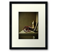 The Toy Cannon Framed Print