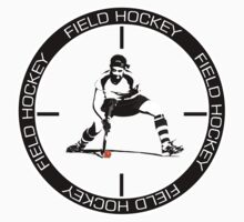 Field Hockey white text by John Livesey