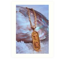 Egyptian Gold and Mother of Pearl Art Print