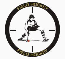 Field Hockey yellow text by John Livesey