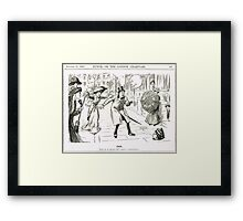 MP & Votes for Women Punch cartoon 1908 Framed Print
