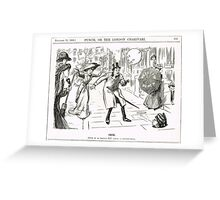 MP & Votes for Women Punch cartoon 1908 Greeting Card