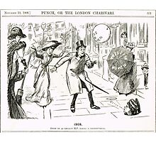 MP & Votes for Women Punch cartoon 1908 Photographic Print