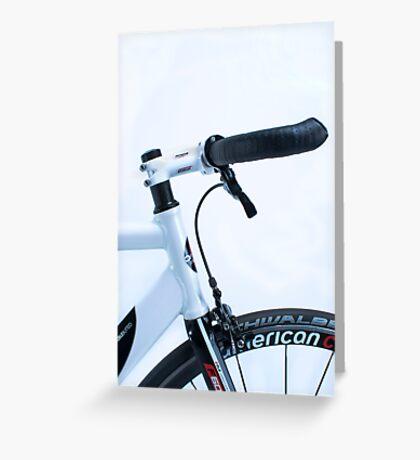 Omnium track bike in fixie street mode Greeting Card