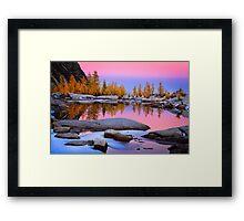 Pink Gnome Tarn Framed Print