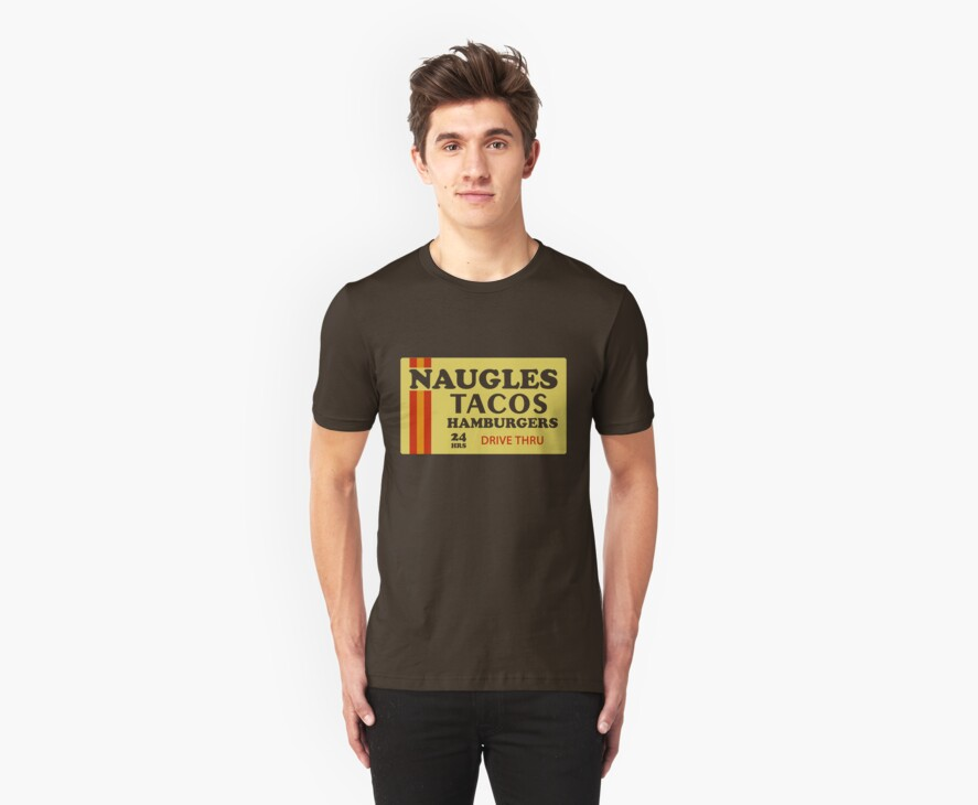 Naugles Tacos Retro T-Shirt by defunkt
