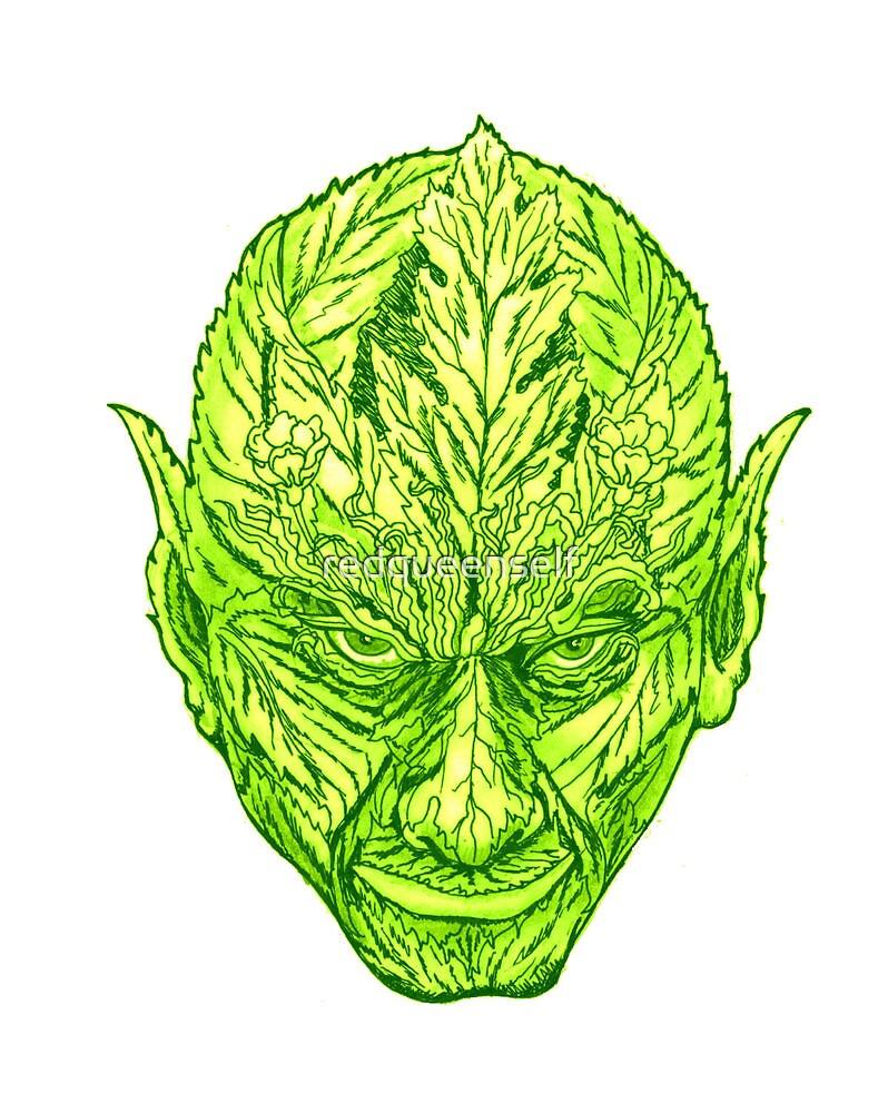 green man goblin by redqueenself