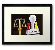 Claim for an Injunction Framed Print