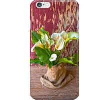 Calla lilies in Hessian. iPhone Case/Skin
