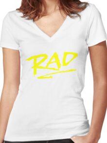 Rad BMX 80's T-Shirt Women's Fitted V-Neck T-Shirt