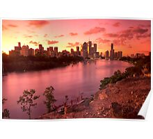 Kangaroo Point, Brisbane - QLD. Poster