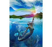 RAINBOW WAVE Photographic Print