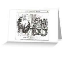 Suffragette Sisters Punch cartoon 1908 Greeting Card