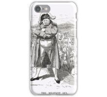 The Militant Sex Punch Suffragettes 1908 iPhone Case/Skin