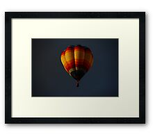 Hot air balloon flight 2 Framed Print
