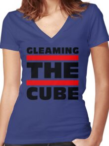 Gleaming The Cube Vintage 80's T-Shirts Women's Fitted V-Neck T-Shirt