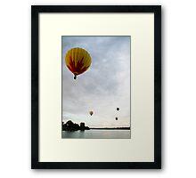 Hot air balloon flight 5 Framed Print