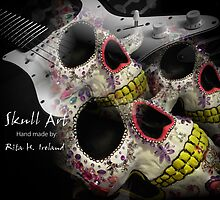 Skull Art Hand Made by Rita  H. Ireland