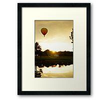 Hot air balloon flight 6 Framed Print