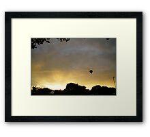 Hot air balloon flight 7 Framed Print