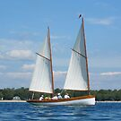 Scajaquada under sail at Buffalo Maritime Center's Small Craft Festival by Ray Vaughan