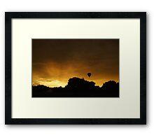 Hot air balloon flight 8 Framed Print