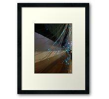 Fiber Optic Lighting Tangle Framed Print