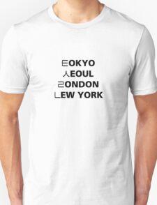 Tokyo Seoul London Newyork Unisex T-Shirt