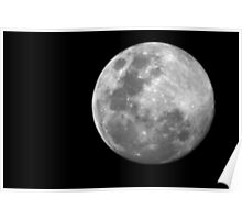 Full moon over Woodside B&W Poster