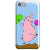 Pigs to the rescue! iPhone Case/Skin