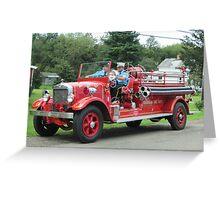 1929 Buffalo fire engine, Farnham Fire Department Greeting Card