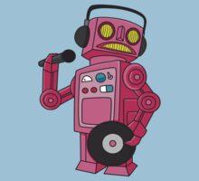 hey robot dj Kids Tee