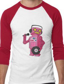 hey robot dj Men's Baseball ¾ T-Shirt